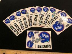 10 Count New York Giants 5 Piece Prismatic Sticker Sheet - N