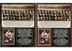1927 New York Football Giants NFL Champions Photo Card Plaqu