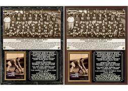 1938 New York Football Giants NFL Champions Photo Card Plaqu