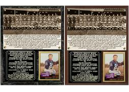 1956 New York Football Giants NFL Champions Photo Card Plaqu