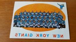 1959 TOPPS #133 NEW YORK GIANTS TEAM CARD  CHECKLIST  UNMARK