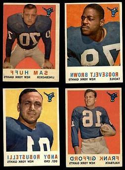 1959 Topps New York Giants Team Set Giants-FB EX