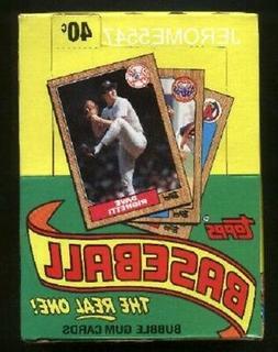 1987 TOPPS Baseball  Wax Card Box 36 Packs UNOPENED BONDS, B