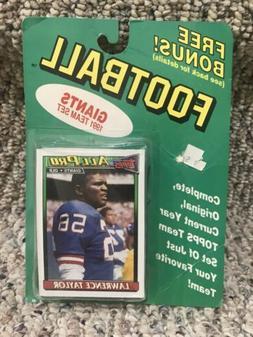 1991 Topps New York Giants Team Set - Sealed Package