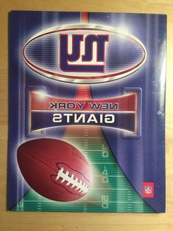NFL New York Giants School Folders Portfolio Notebook Paper