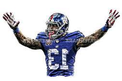 Beautiful Odell Beckum New York Giants Team Art Lithograph s