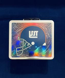 Brand New NFL New York Giants Silver Tin Lunchbox
