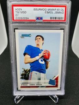 Daniel Jones Rookie Card PSA 10 Gem Mint Rated Rookie New Yo