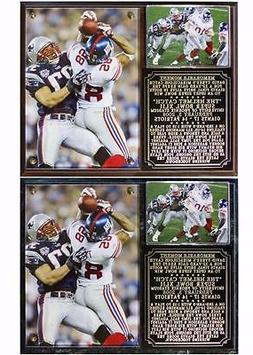 David Tyree Helmet Catch Super Bowl XLII Champions Photo Pla