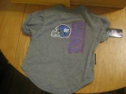 Hunter Dog Pet T Shirt NEW YORK GIANTS Size Large NFL NEW Wi