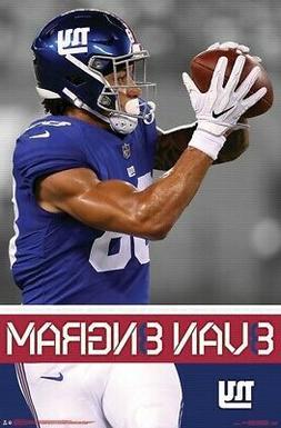 EVAN ENGRAM - NEW YORK GIANTS POSTER - 22x34 NFL FOOTBALL 17