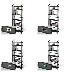 Metal Bookshelf 5 tier Black with a NFL Team Logo Decal Den