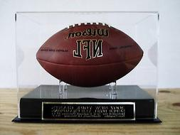 New York Giants Football Display Case W/ A Super Bowl 42 Eng