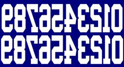 Full Size OR Replica Mini Size Football Helmet Number Decals
