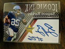 ICONIC INK SAQUON BARKLEY ROOKIE Fac AUTO RC New York Giants