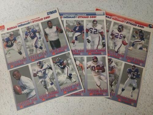 1993 fleer new york giants game day
