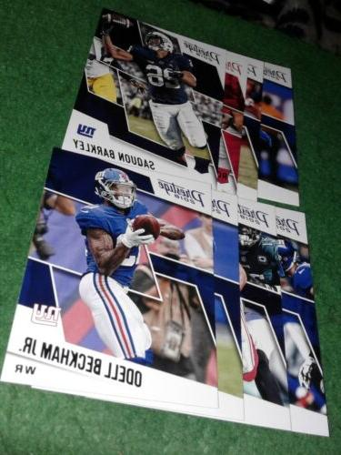 2018 prestige new york giants team sets