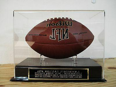 football display case with a lawrence taylor