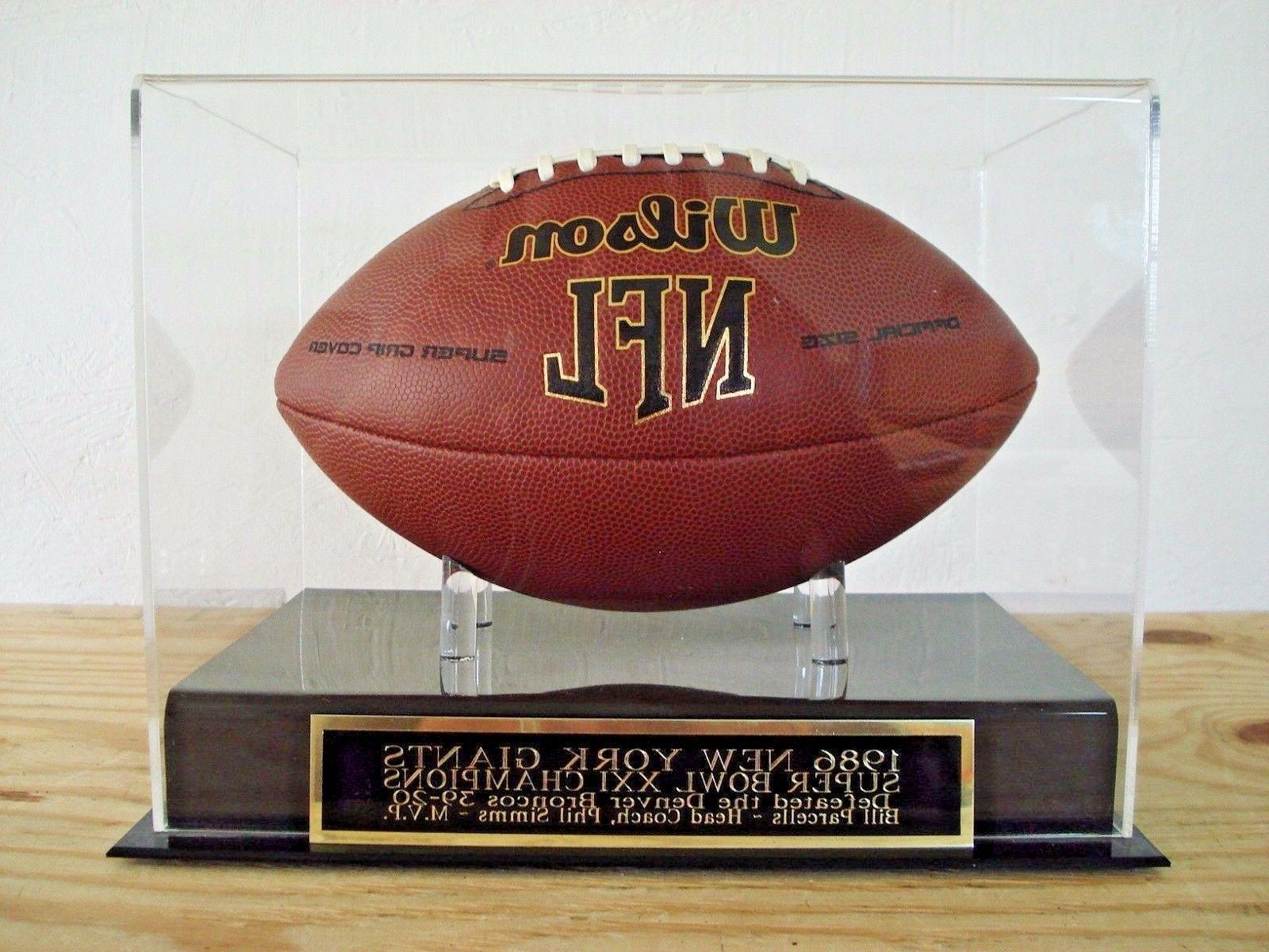new york giants football display case