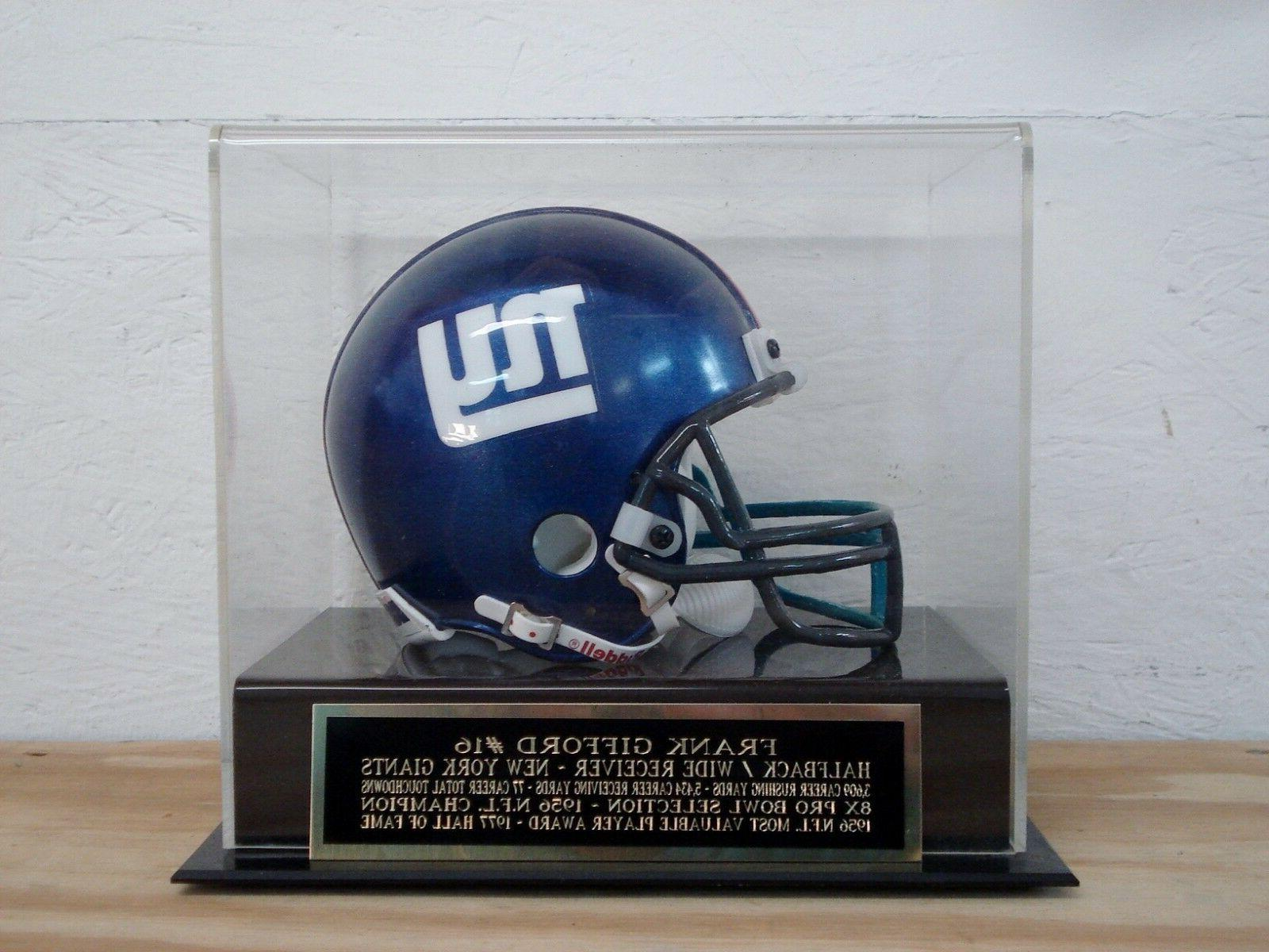 football mini helmet display case with a