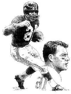 Frank Gifford New York Giants Lithograph By Michael Mellett