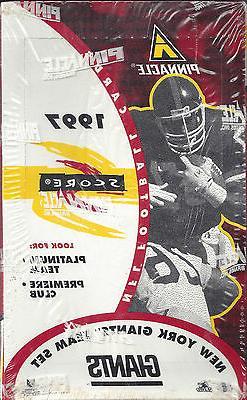New York Giants 1997 Pinnacle NFL Football Team Set Sealed B