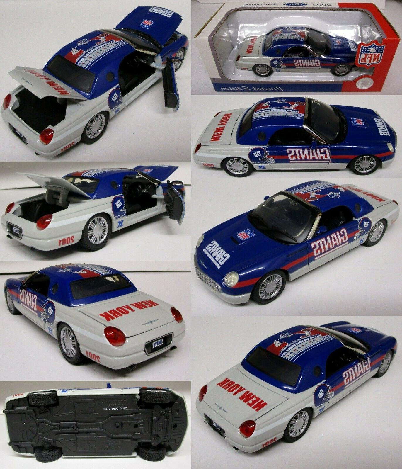 New York Giants 2002 FORD THUNDERBIRD Metal Die-cast Car 1:2
