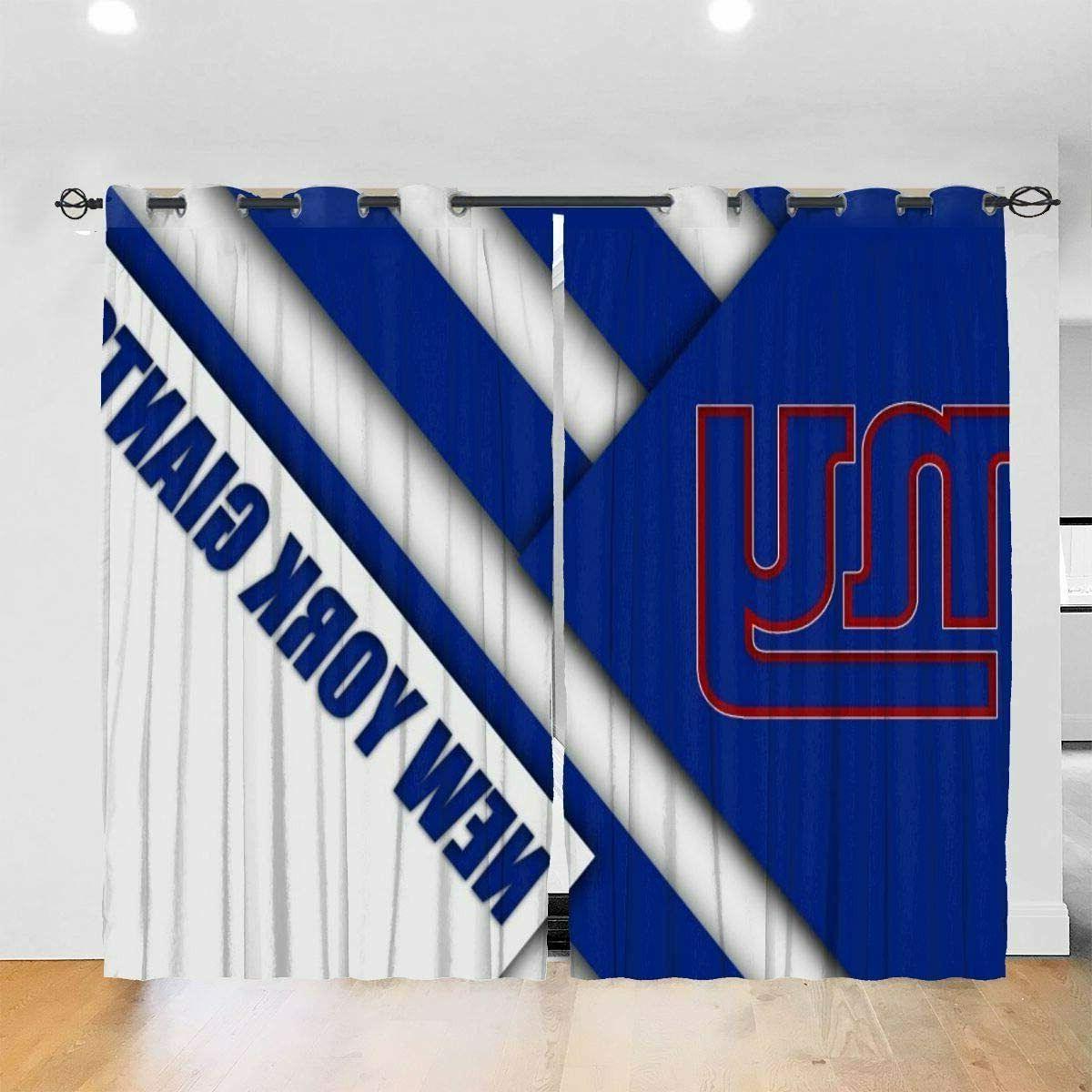 New York Window Curtain 2PCS