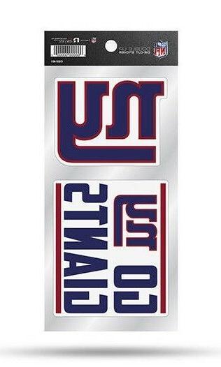 new york giants double up sticker sheet