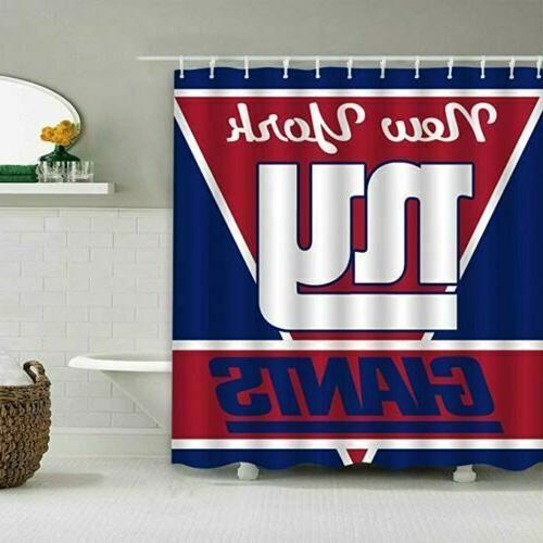 new york giants football bathroom shower curtains