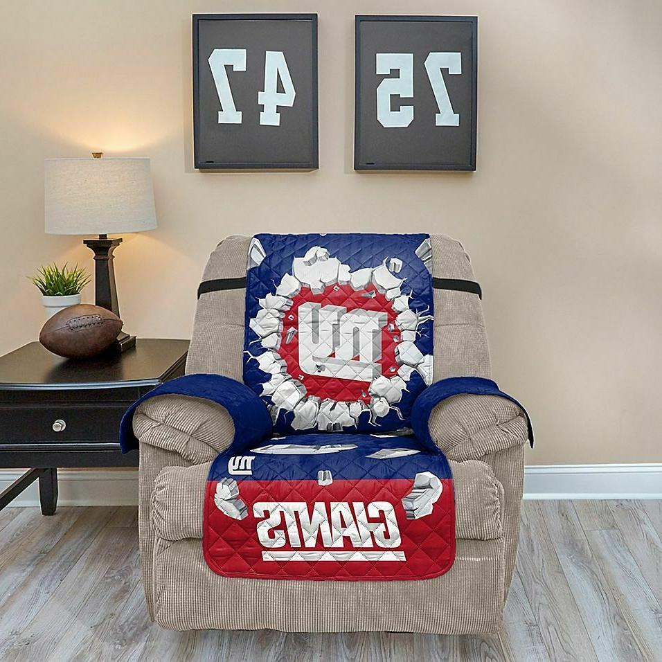 NEW YORK GIANTS FURNITURE PROTECTOR EXPLOSION COVER RECLINER