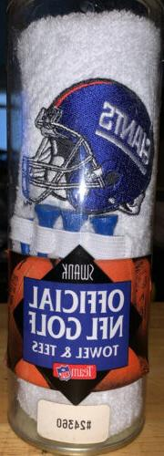 New York Giants Golf Gift Set Towel And Tees