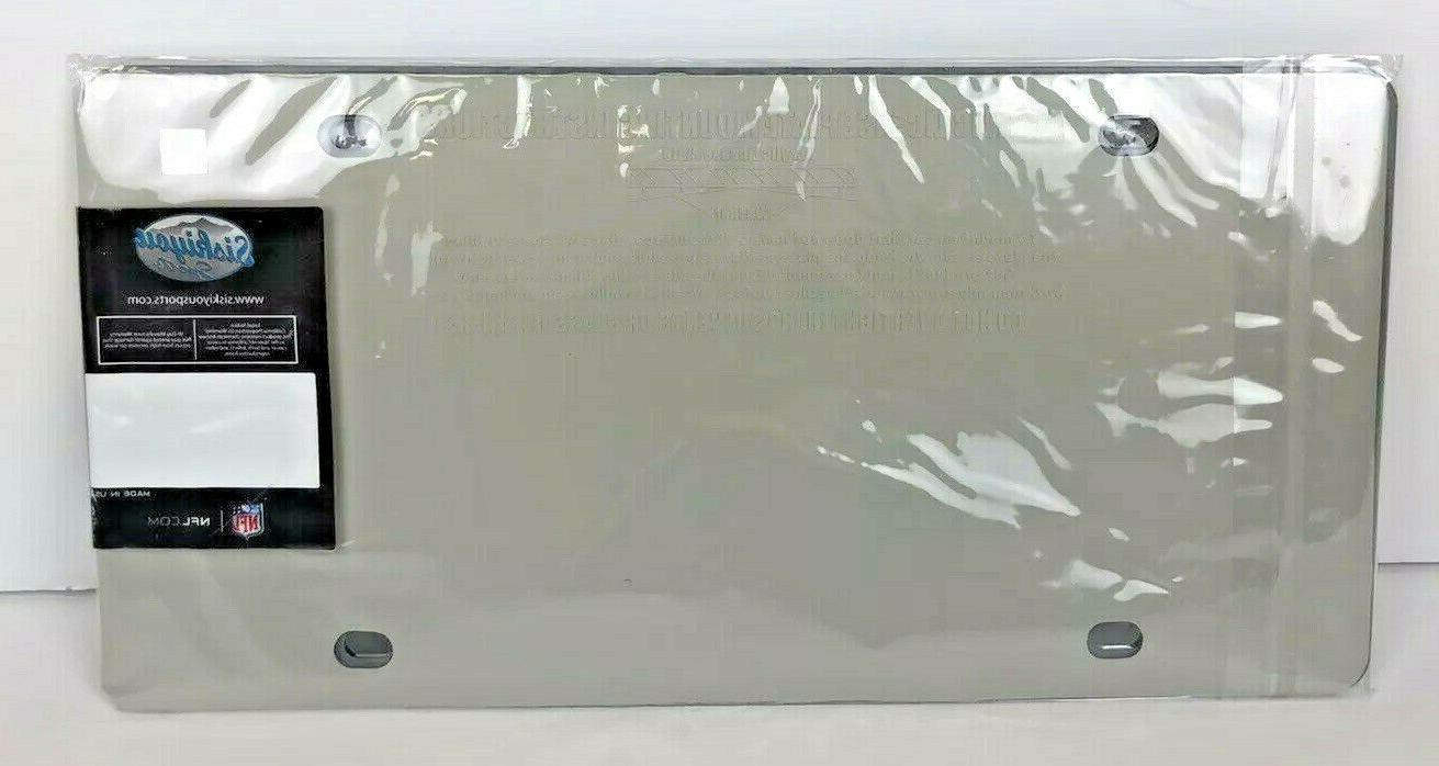 New York Giants Mirrored License Plate Acrylic Material - NFL Licensed NIP