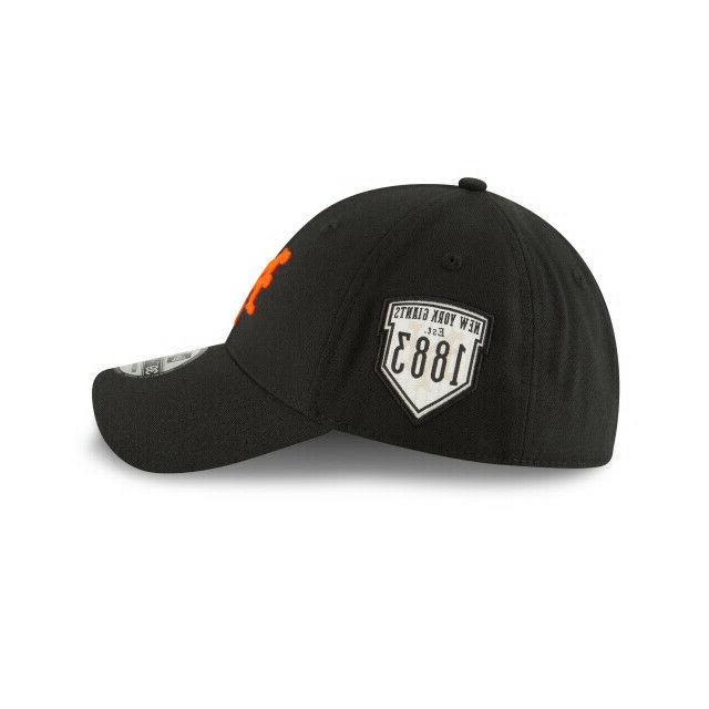 New York Giants Authentic New Era Cooperstown 39THIRTY Flex Hat-Black