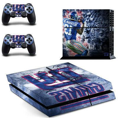 New York Giants PS4 Skin Sticker Decal Vinyl Console+2 contr