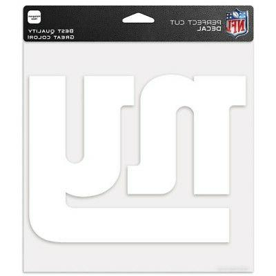 new york giants white logo cut decal