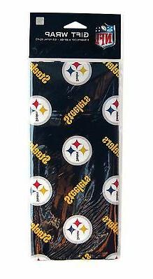 "NFL FOOTBALL TEAM HOLIDAY GIFT WRAP PAPER 3 SHEETS 30""X20"""
