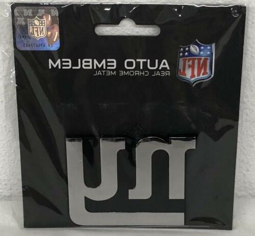 nfl new york giants auto emblem real