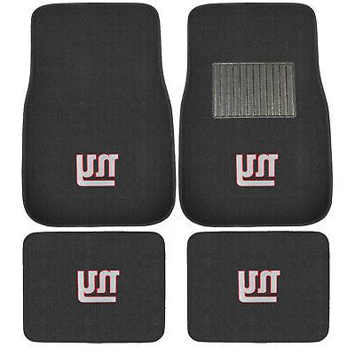 New 4pcs NFL New York Giants Car Truck Front Rear Carpet Flo