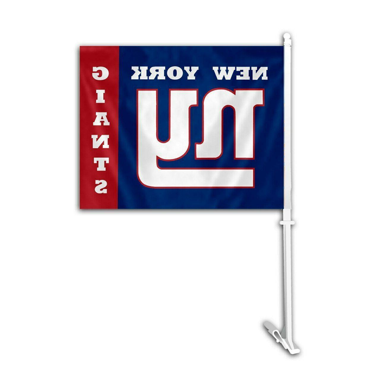 nfl new york giants car flag