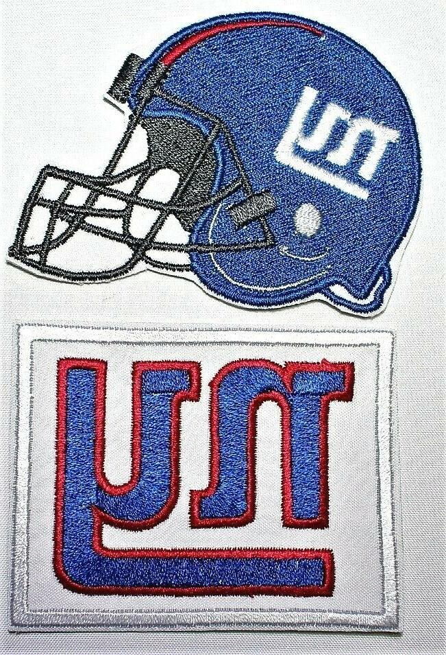 nfl new york giants embroidered iron on