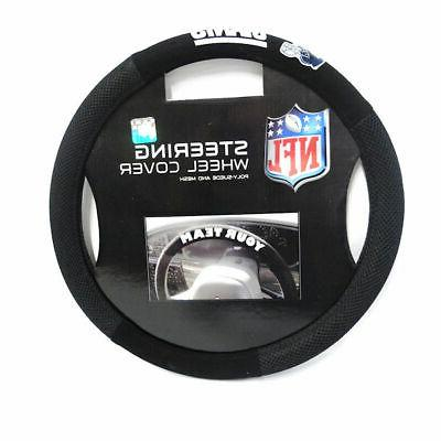 nfl new york giants poly suede steering