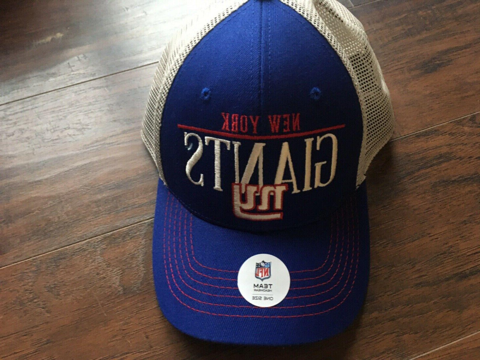 nfl ny giants mens blue cream straightaway