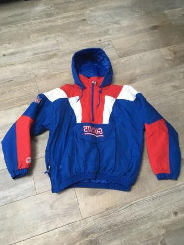 vintage 90s new york giants pullover jacket