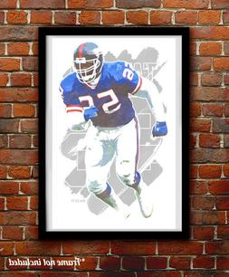 LAWRENCE TAYLOR watercolor painting art print/poster NEW YOR