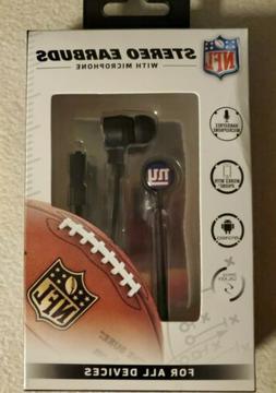 Licensed New York Giants Ear Buds/ Headphones  NFL iHip New