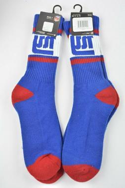 Lot 2 Pairs NFL New York Giants Logo Crew Socks Large Men's