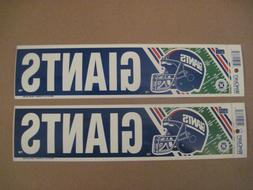 Lot Of  Vintage New York Giants Eastern Division Wincraft Bu