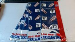 LOT OF 5 / NFL FOOTBALL NEW YORK GIANTS GIFT WRAP PAPER 3 SH