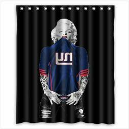 marilyn monroe new york giants shower curtain